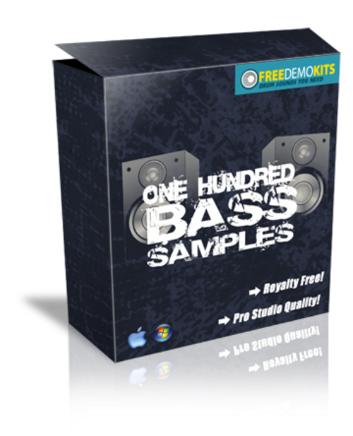 Product picture 100 + Bass Samples by FreeDemoKits.com!