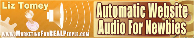 Product picture Automatic Website Audio for Newbies with Master Resell Rights